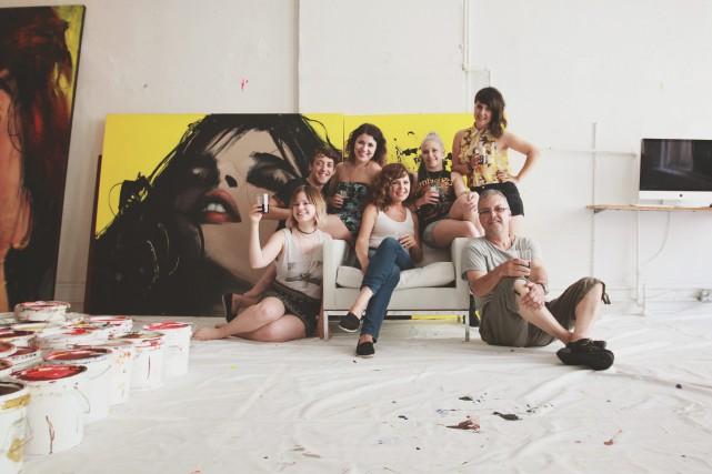 L'équipe du blogue Je m'habille chez nous s'est... (Photo courtoisie, Patrick Simard)