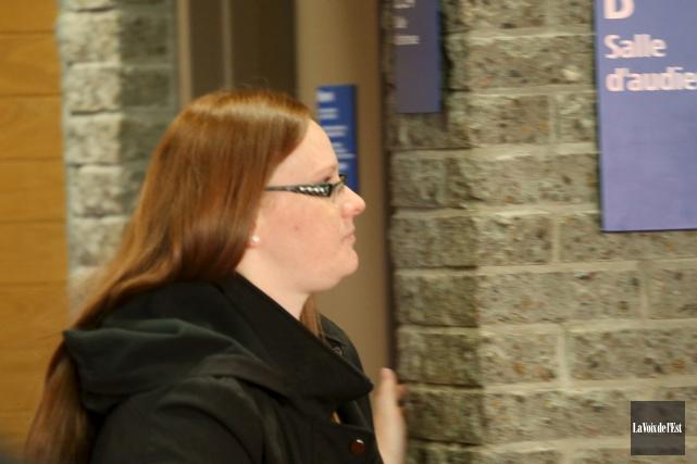 Véronique Lalonde a été déclarée coupable de voies... (La Voix de l'Est)