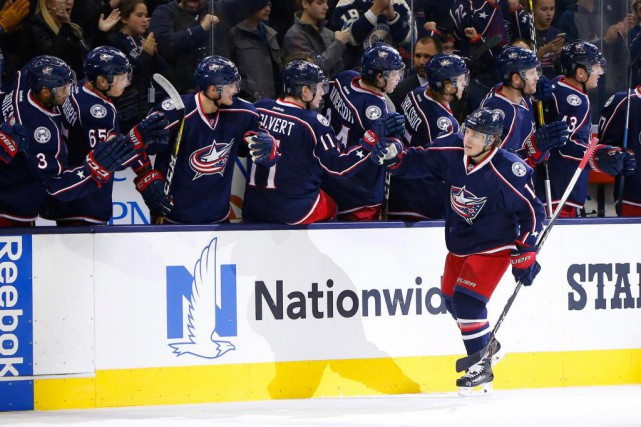 Avant les matchs d'hier, Cam Atkinson occupait le... (PHOTO RUSSELL LABOUNTY, USA TODAY SPORTS)