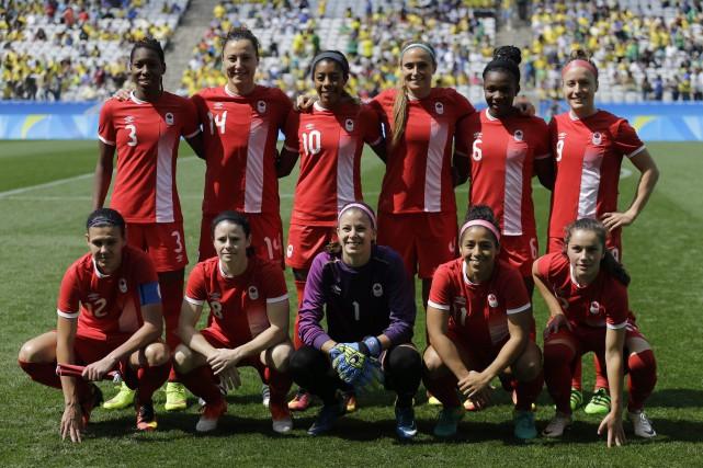 L'équipe canadienne féminine de soccer aux Jeux olympiques... (Photo Nelson Antoine, archives AP)