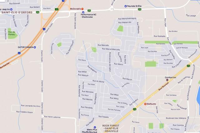 La Ville de Sherbrooke a reçu quatre soumissions pour la construction du futur... (Capture d'écran Google Maps)
