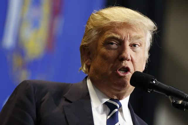 M. Trump a estimé qu'il s'agissait «d'une menace... (AP)