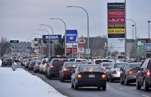 La circulation à proximité du boulevard des Récollets... (Photo: François Gervais)