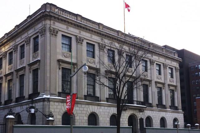L'ancienne ambassade américaine, sur la rue Wellington aura... (Etienne Ranger, Le Droit)