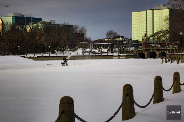 La saison de patinage sur le ruisseau de la Brasserie pourrait être... (Simon Séguin-Bertrand, Archives Le Droit)