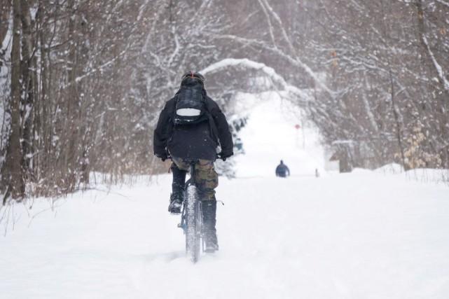En ce moment, les pistes cyclables de la... (Archives, La Presse)