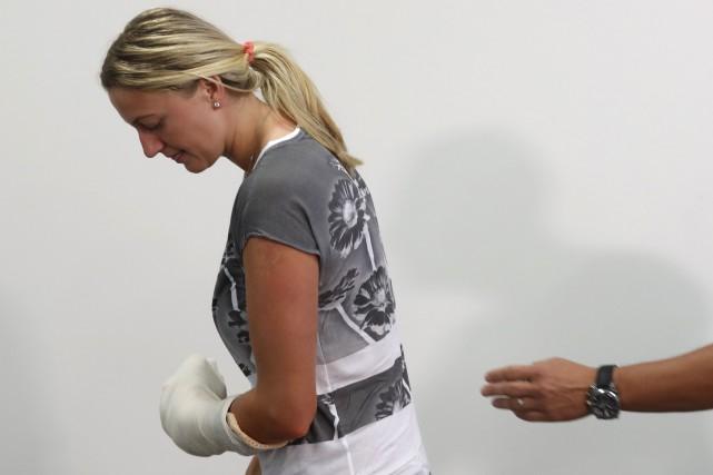 Petra Kvitova a étésérieusement blessée à la main... (Photo Archives AP)