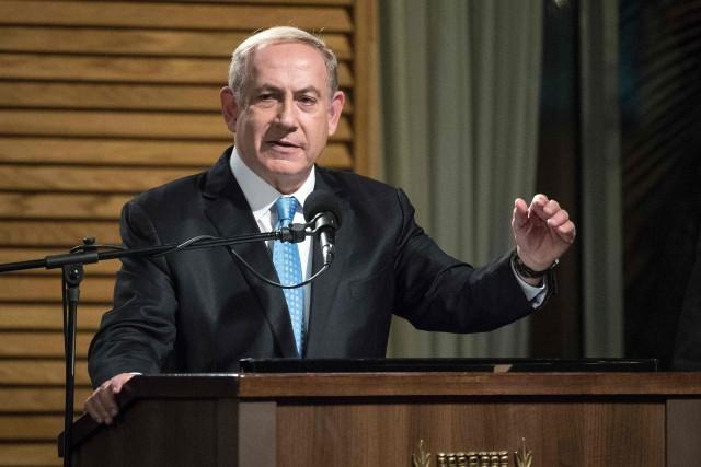 Le premier ministre israélien Benyamin Nétanyahou... (PHOTO JACK GUEZ, AFP)