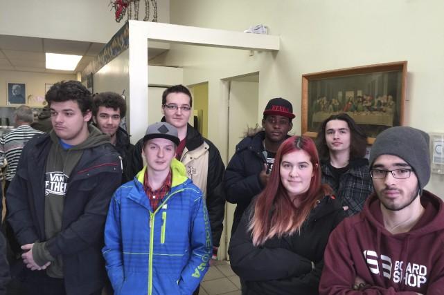Le 8 décembre dernier, huit élèves de l'école... (Photo courtoisie)
