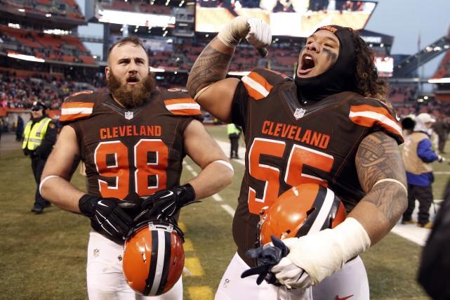 Les Browns ont reçu leur cadeau de Noël: une toute première victoire cette... (Photo AP)