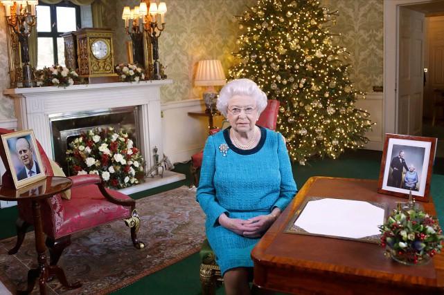 Le traditionnel message de Noël de la Reine... (Yui Mok, AFP)