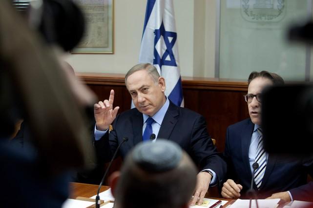Le premier ministre israélien Benyamin Nétanyahou a vivement... (Archives AP)