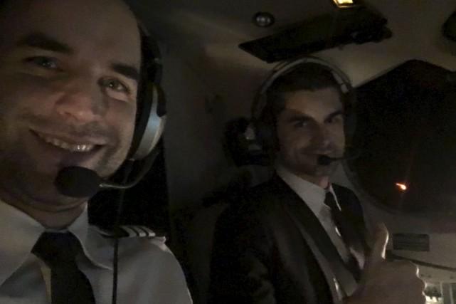 Samuel Beaulieu et Vladimir Topic... (Photo fpournie par Chrono Aviation)
