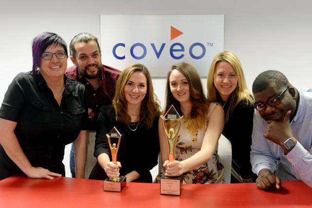 L'équipe des ressources humaines de Coveo et les... (Le Soleil, Erick Labbé)