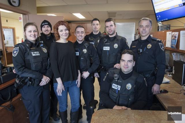 Quelques patrouilleurs de la Sécurité publique de Saguenay... (Photo Le Quotidien, Michel Tremblay)