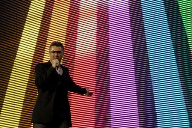 George Michael lors d'un spectacle àBratislava, en 2007... (AFP)