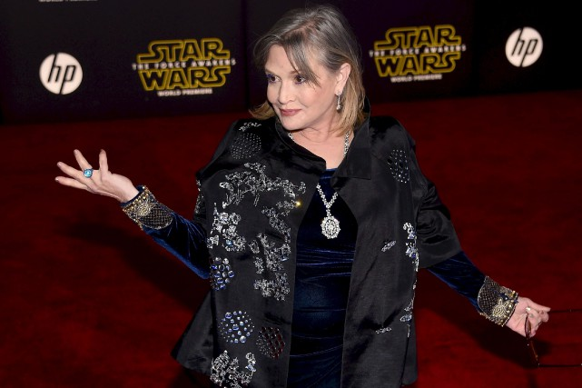 L'actrice américaine Carrie Fisher.... (AFP)