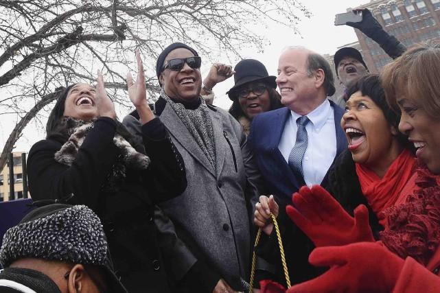Stevie Wonder avait déménagé à Detroit lorsqu'il était... (AP, Daniel Mears)