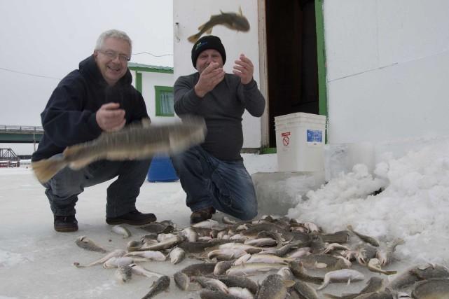 La pêche a été fructueuse pour Jean Samson... (Sylvain Mayer, Le Nouvelliste)