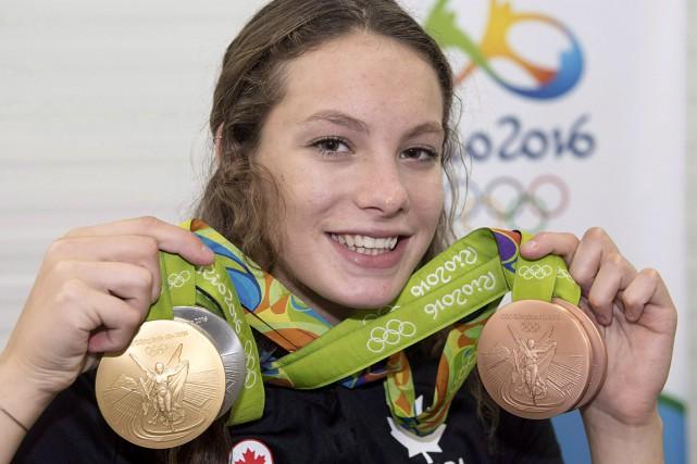 Penny Oleksiaka remporté des médailles d'or et d'argent... (archives La Presse canadienne)