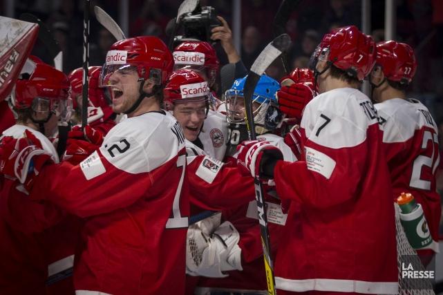 Le Danemark a ainsi signé une troisième victoire... (PHOTO OLIVIER JEAN, LA PRESSE)