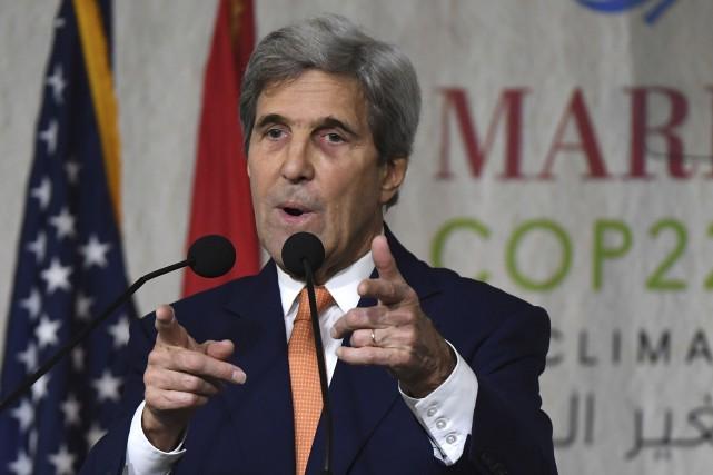 Le secrétaire d'État américain sortant John Kerry présentera... (AP, Mark Ralston)