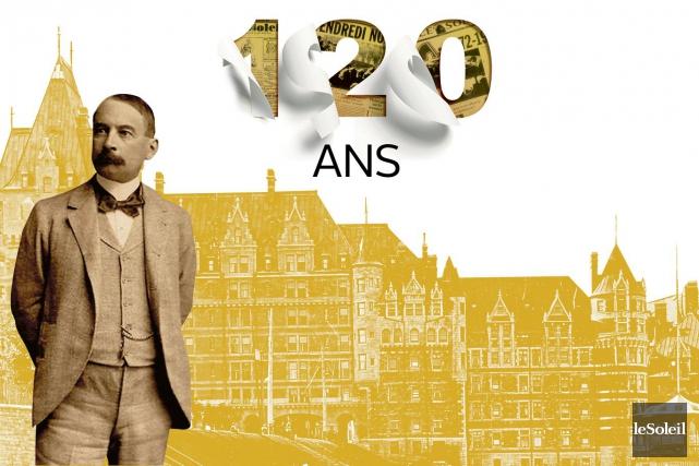 Ernest Pacaud, fondateur et rédacteur en chef duSoleil... (Infographie Le Soleil)