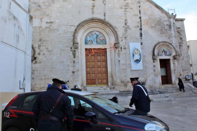 Sur la photo, l'église de Grumo Appula où... (Photo Annamaria Loconsole/ANSA via AP)