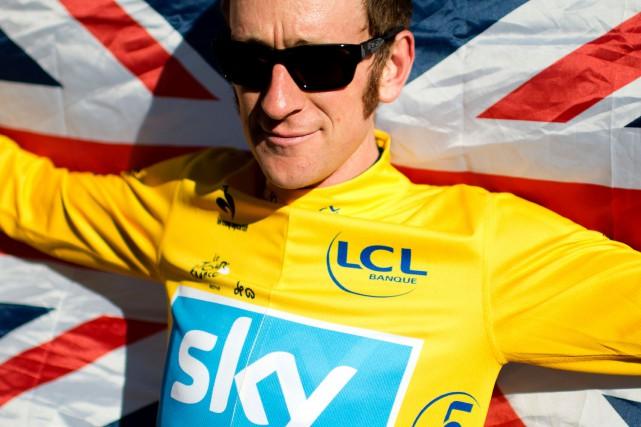 Bradley Wigginsest devenu le premier Britannique à gagner... (Archives, AFP)