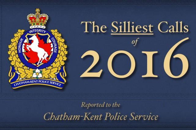 La police de Chatham-Kent a dressé une liste... (Chatam-Kent Police Service)