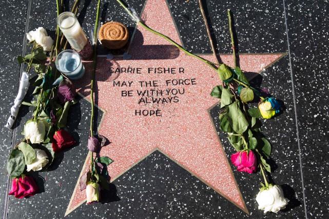 L'actrice n'a pas d'étoile officielle sur le boulevard,... (PHOTO VALERIE MAÇON, AFP)