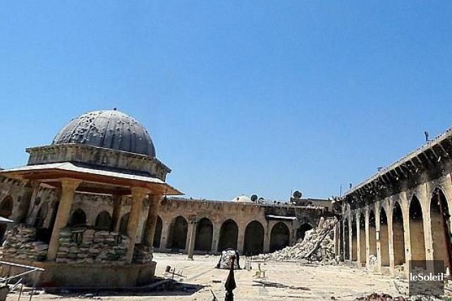 La cour intérieure de la mosquée des Omeyyades... (Photothèque Le Soleil)