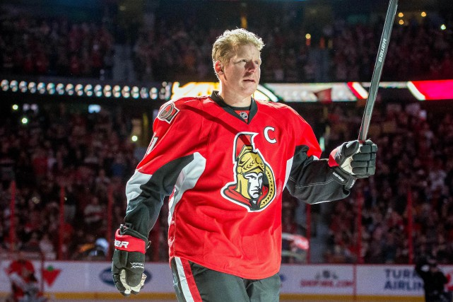 Daniel Alfredsson a porté les couleurs des Sénateurs pendant... (PHOTO Marc DesRosiers, ARCHIVES USA TODAY Sports)