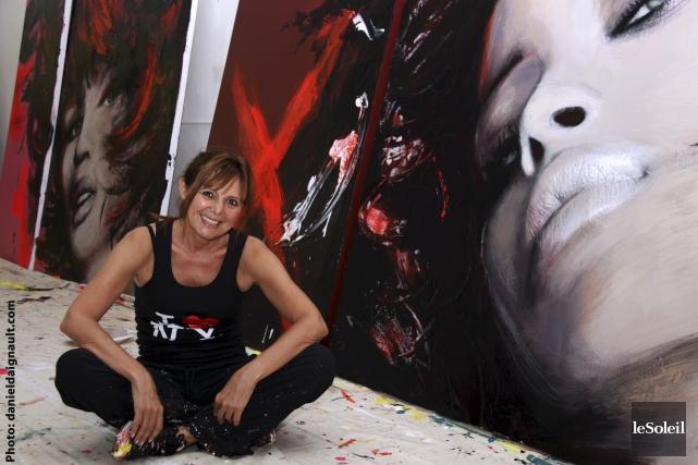 L'artiste-peintre Joanne Corno... (Photothèque Le Soleil)