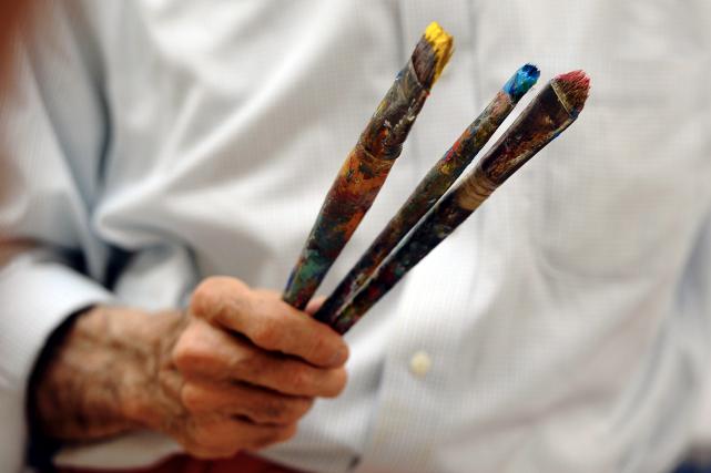 L'étude a été menée sur 2092 peintures, dont... (AFP, TIMOTHY A. CLARY)