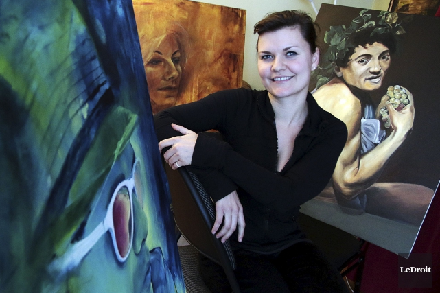 La Gatinoise Maria-Rosa Szychowska signera 12 murales du... (Etienne Ranger, Le Droit)