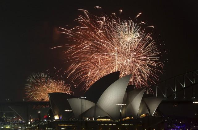 Sydney prépare ses festivités du Nouvel An, toujours... (Photo Rob Griffith, archives AP)