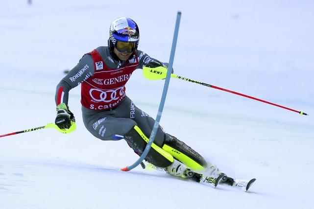 Alexis Pinturault a survolé le parcours pendant le... (Agence France-Presse)
