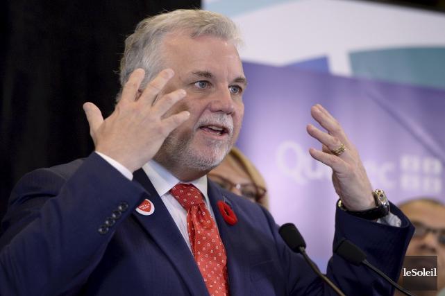 Le premier ministre du Québec, Philippe Couillard... (Photothèque Le Soleil)
