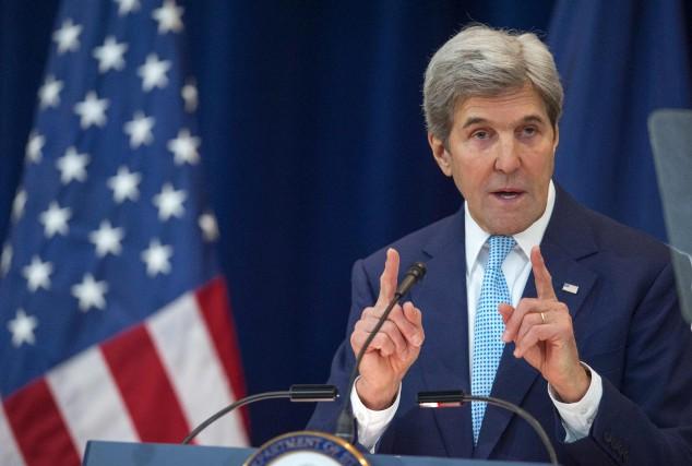 Dans son discours prononcé cette semaine, John Kerry... (AFP, Paul J. Richards)
