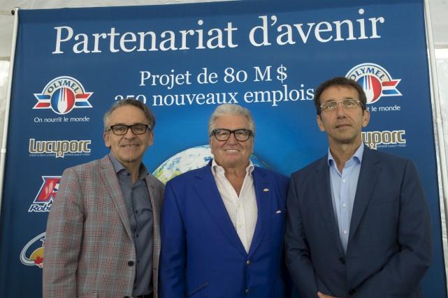 Denis Trahan (ATrahan), Réjean Nadeau (Olymel) et Claude...