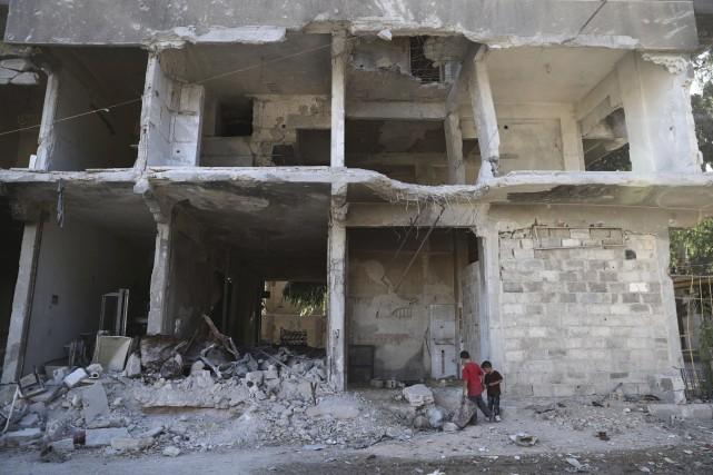 «Avec la prise de ces trois quartiers, le... (Photo Abd Doumany, Archives AFP)