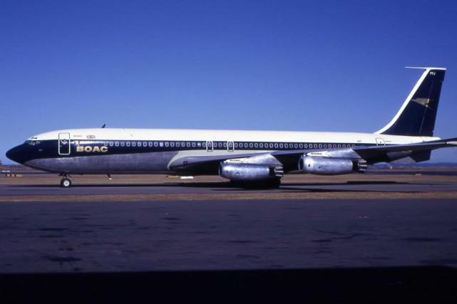 Un Boeing 707 semblable à celui impliqué dans... (PHOTO FOURNIE PAR WIKIPÉDIA)