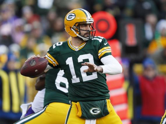 Le quart-arrière des Packers, Aaron Rodgers.... (Associated Press)