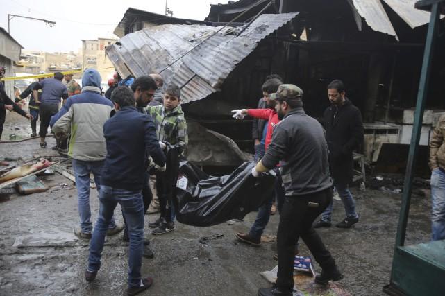 Cet attentat n'a pas été revendiqué dans l'immédiat... (Photo Karim Kadim, AP)