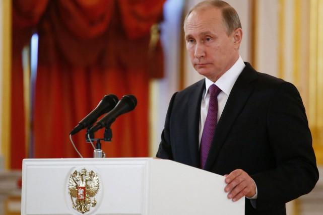 Vladimir Poutine... (photo Sergei Karpukhin, archives AFP)