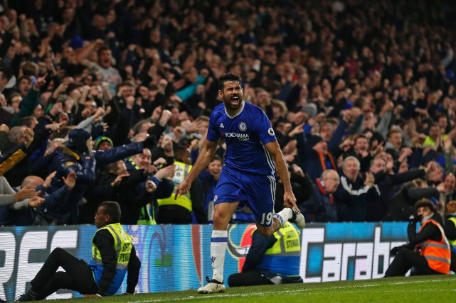 Diego Costa... (PHOTO Ian KINGTON, AFP)