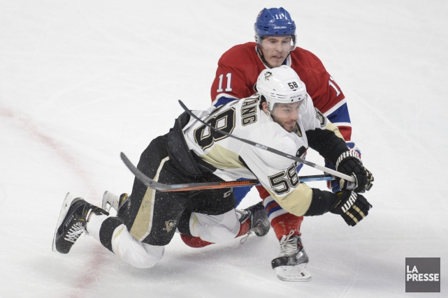 Kristopher Letang et Brendan Gallagher... (PHOTO BERNARD BRAULT, ARCHIVES LA PRESSE)
