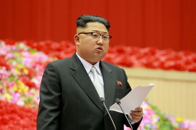 Kim Jong-Un, leader nord-coréen.... (Photo archives AFP)