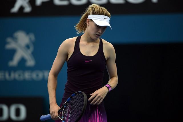 Eugenie Bouchard, qui n'a pas atteint le deuxième... (SAEED KHAN, AFP)